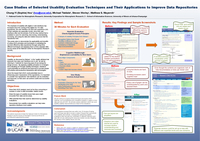 Case studies of selected usability evaluation techniques and their applications to improve data repositories