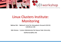 Linux Clusters Institute: Monitoring