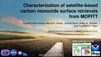Characterization of satellite-based carbon monoxide surface retrievals from MOPITT