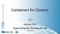 Containers for clusters