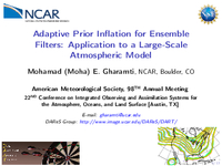 Adaptive prior inflation for ensemble filters: Application to a large-scale atmospheric model