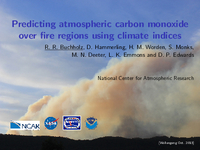 Predicting atmospheric carbon monoxide over fire regions using climate indices