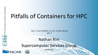 Pitfalls of containers for HPC