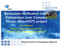Mesoscale Verification Intercomparison Over Complex Terrain (MesoVICT) project