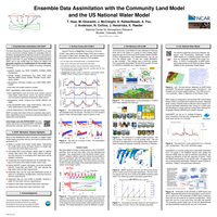 Ensemble data assimilation with the Community Land Model and the US National Water Model