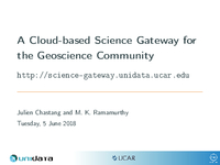 A cloud-based science gateway for the geoscience community