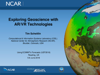 Exploring geoscience with AR/VR technologies