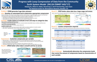 Progress with lossy compression of data from the Community Earth System Model (IN11B-258407 AGU'17)