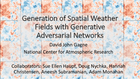 Generation of spatial weather fields with generative adversarial networks