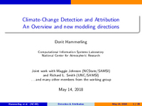 Climate change detection and attribution: An overview and new modeling directions