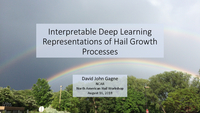 Interpretable deep learning representations of hail growth processes