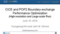 CICE and POP2 boundary-exchange performance optimization