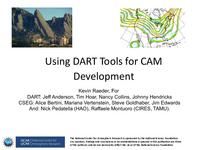 Using DART tools for CAM development