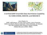 A Unified DART ensemble data assimilation capability for CAM(-CHEM), WACCM, and WACCM-X