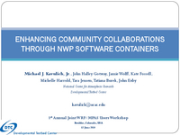 Enhancing community collaborations through NWP software containers