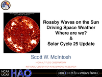 Solar Rossby Waves, declining activity and solar cycle date