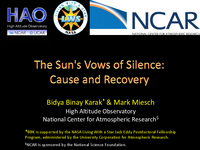 The Sun's vows of silence: Cause and recovery
