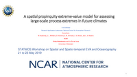 A spatial propinquity extreme-value model for assessing large-scale process extremes in future climates