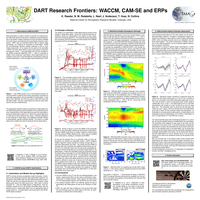 DART research frontiers: WACCM, CAM-SE and ERPs [poster]