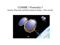 COSMIC / FormoSat-3 science payloads and data analysis status - First results [presentation]