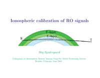 Ionospheric calibration of RO signals [presentation]