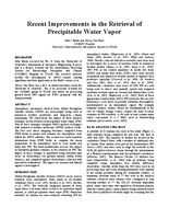 Recent improvements in the retrieval of precipitable water vapor [presentation]