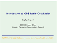 Introduction to GPS radio occultation [presentation]