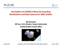 Simulatons of COSMIC follow‐on sounding distributions and data latency for OSSE studies [presentation]