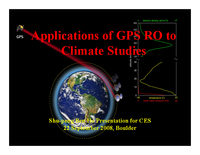 Radio occultation for climate sensing [presentation]