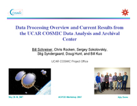 Data processing overview and current results from the UCAR COSMIC Data Analysis and Archival Center [presentation]