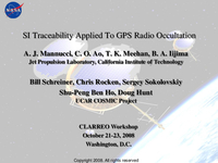 SI traceability applied to GPS radio occultation [presentation]