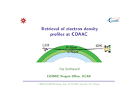 Retrieval of electron density profiles at CDAAC [presentation]