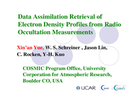 Data assimilation retrieval of electron density profiles from radio occultation measurements [presentation]