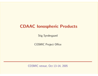 CDAAC ionospheric products [presentation]