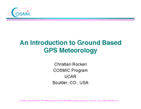 Ground based meteorology: Parameter estimation [presentation]