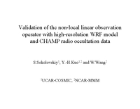 Validation of a simple non-local observation operator with high resolution weather model [presentation]