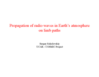 The physics of atmospheric microwave propagation [presentation]