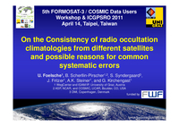 On the consistency of radio occultation climatologies from different satellites and possible reasons for common systematic errors [presentation]