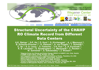 Structural uncertainty of the CHAMP RO climate record from different data centers [presentation]