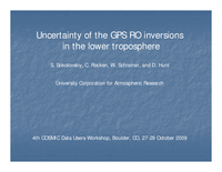 Structural uncertainty and biases of radio occultation inversions in the lower troposphere [presentation]