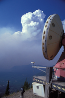 Doppler Radar on Wheels from the Robert Fire (DI01155), Photo by Herb Stein