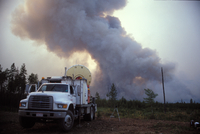 Doppler Radar on Wheels from the Robert Fire (DI01156), Photo by Herb Stein
