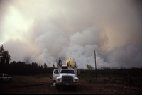 Doppler Radar on Wheels from the Robert Fire (DI01157), Photo by Herb Stein