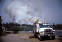 Doppler Radar on Wheels from the Robert Fire (DI01158), Photo by Herb Stein