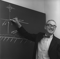 Walter Orr Roberts at blackboard (DI01235)