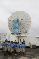 Students visit the S-Pol Radar at RICO field site (DI01329)