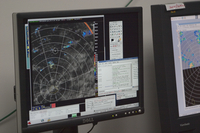 Radar Screen at the RICO operations center (DI01382)