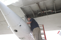 SABL pod being serviced on C-130 during RICO (DI01400)