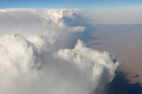 Aerial of storm front (DI01473)