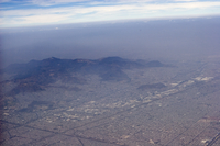 Aerial showing pollution over Mexico City (DI01475)